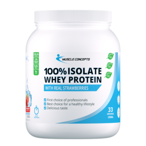 Whey-protein-isolate-aardbei